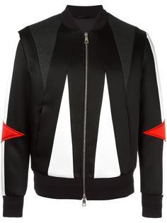 куртка бомбер с геометрическими панелями Neil Barrett