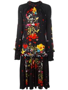 платье с оборками и цветочным рисунком Piccione.Piccione