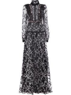 прозрачное платье с рюшами Giambattista Valli