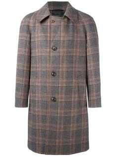 пальто с застежкой на пуговицы в клетку Marc Jacobs