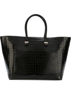 сумка-тоут с эффектом крокодиловой кожи  Victoria Beckham