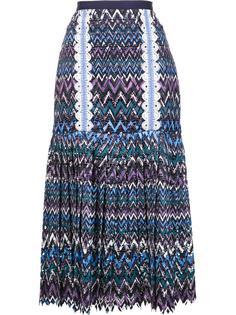 плиссированная юбка миди Saloni