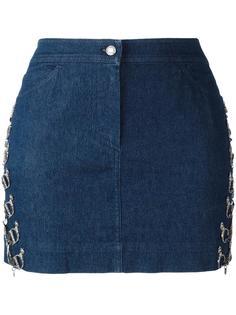 юбка с цепочной отделкой Christian Dior Vintage