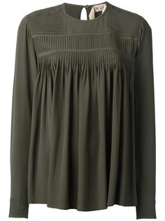 блузка с длинными рукавами и плиссировками Nº21