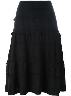 юбка с оборками Salvatore Ferragamo