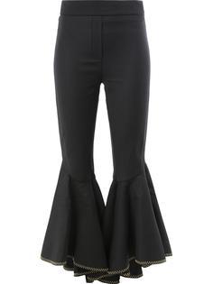 укороченные брюки с рюшами Ellery
