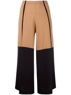 укороченные брюки с контрастными вставками Circus Hotel