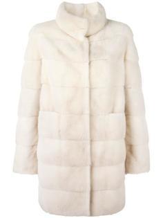 норковое пальто с потайной застежкой Arma