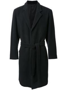 однобортное пальто с поясом monkey time