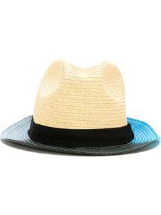 соломенная шляпа с контрастной окантовкой Paul Smith