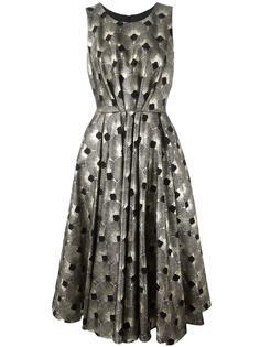 металлизированное платье с узором из вееров Ultràchic