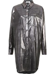 длинная рубашка с металлическим блеском Jil Sander