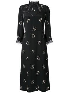 платье с цветочным рисунком и воротником-стойкой Vilshenko