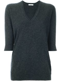 свитер c V-образным вырезом  6397