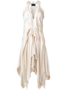 драпированное платье с глубоким вырезом Kitx