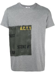 футболка с потертым принтом сбоку Valentino