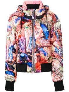 стеганая куртка бомбер с принтом Nicopanda
