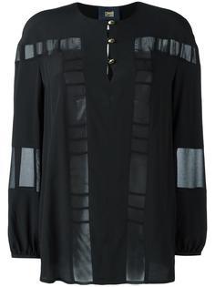 блузка с прозрачными панелями Cavalli Class