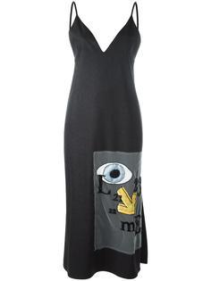 платье с заплаткой с вышивкой Au Jour Le Jour