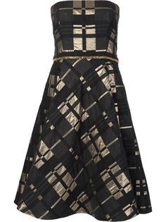 расклешенное платье без бретелек Badgley Mischka