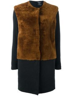 пальто без воротника Majestic Filatures