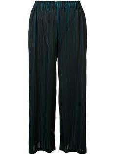 pleated bicolour trousers Pleats Please By Issey Miyake