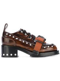 туфли на шнуровке с ремешком Nº21