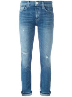 укороченные джинсы с рваными деталями Hudson
