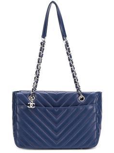 сумка-тоут с узором шеврон Chanel Vintage