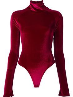 velvet effect open back bodysuit Alix