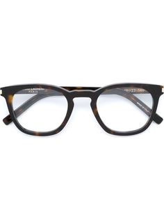 очки в черепаховой оправе Saint Laurent