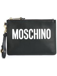 клатч с принтом-логотипом Moschino