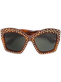 солнцезащитные очки с принтом звезд Gucci Eyewear