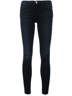 рваные джинсы кроя скинни Frame Denim
