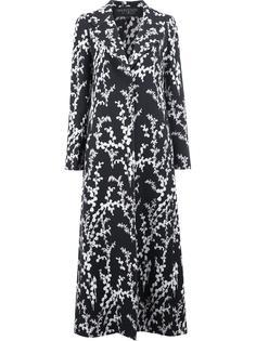 удлиненное пальто с цветочным принтом Giambattista Valli