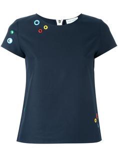 футболка с аппликацией в виде люверсов Mira Mikati
