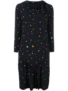 платье с мелким узором Christian Dior Vintage