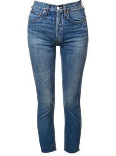 узкие джинсы с завышенной талией Re/Done
