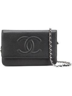 кошелек на цепочке с логотипом Chanel Vintage