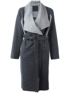 двухцветное пальто Demoo Parkchoonmoo