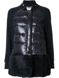 дутая куртка с блестящей отделкой Muveil