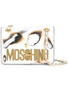 сумка с прожженным эффектом Moschino