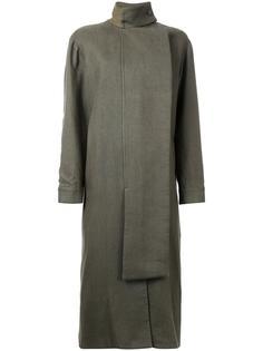 удлиненное пальто со шнуровкой Christopher Esber