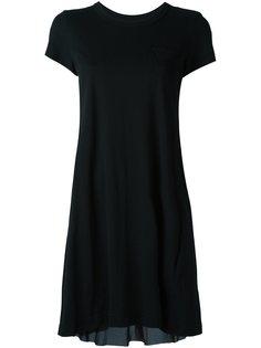 платье-футболка с драпировкой Sacai