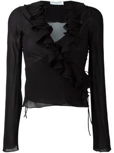 прозрачная блузка с рюшами Christian Dior Vintage