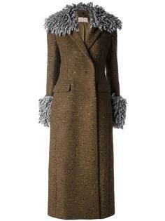 длинное пальто Christopher Kane