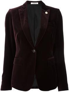 приталенный пиджак с бархатным эффектом Lardini