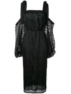 платье 'Pulitzer' с драпированными рукавами Rebecca Vallance