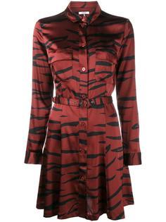 платье-рубашка с тигровым узором Ganni