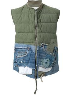 жилет с джинсовыми деталями Greg Lauren